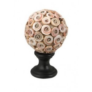 "4"" Cut Red Lips Shell Finial"