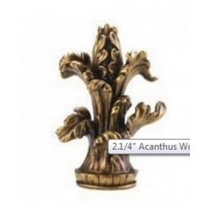 "Acanthus Finial for 2 1/4"" Curtain Rod~Each"