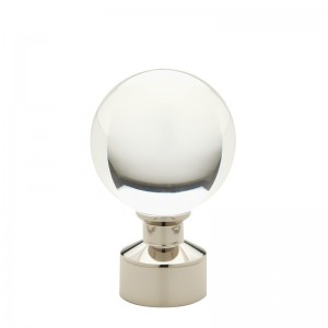 Polished Nickel Acrylic Ball Finial