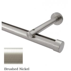 "8' Aria Metal H-Rail Traversing Rod Kit~1 1/8"" Curtain Track~6"" Projection~Each"
