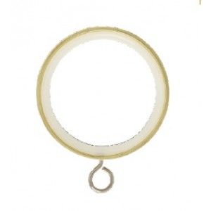 "Curtain Rings with Eyelet for 1 1/8"" Drapery Rods~8 Pack"
