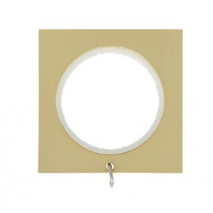 """Square Curtain Rings with Eyelet for 1 1/8"""" Drapery Rods~8 Pack"""