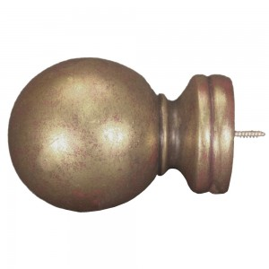 "Ball Design Rod Finial for 2"" Wooden Drapery Rods~Each"
