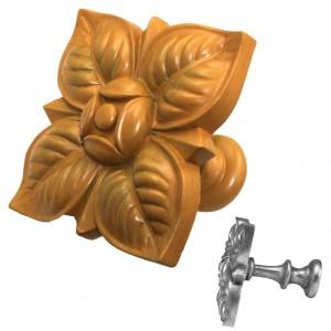 Bamboo Square Petals Top Treatment/Tieback~Each