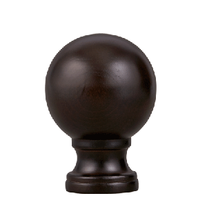 "Espresso Belmont Finial for 2"" Curtain Rod~Each"