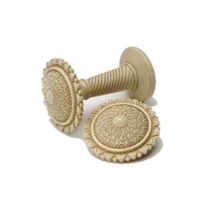 Antique Cream Decorative Holdback~Pair