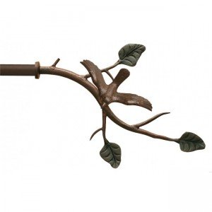 "Bird on Branch Finial for 3/4"" Curtain Rod~Each"