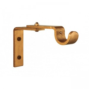 "Adjustable Steel Bracket for 1 1/4"" Curtain Rod~3 5/8""-4 7/8"" Return~Each"