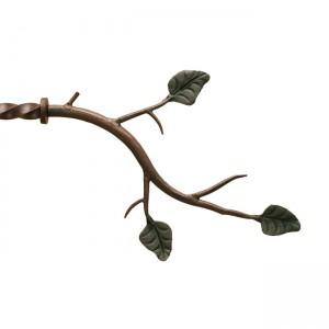 "Branch with Leaf Finial for 3/4"" Curtain Rod~Each"