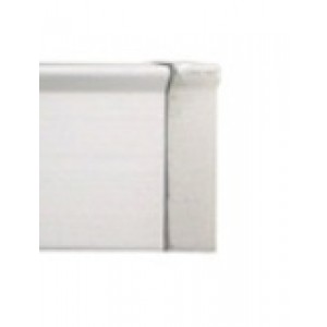 """Brushed Aluminum End Cap for 3/4"""" Square Eco-Deco Track~Each"""