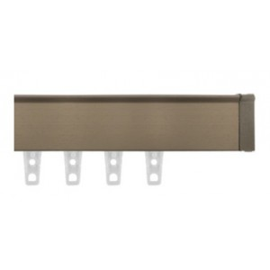 "Brushed Bronze Eco-Deco Track~3/4"" Square (by the foot)"