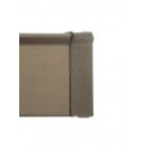 """Brushed Bronze End Cap for 3/4"""" Square Eco-Deco Track~Each"""