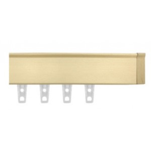 "Brushed Gold Eco-Deco Track~3/4"" Square (by the foot)"