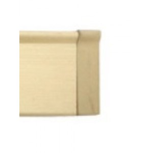 """Brushed Gold End Cap for 3/4"""" Square Eco-Deco Track~Each"""