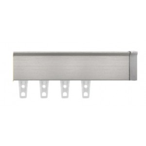 "Brushed Nickel Eco-Deco Track~3/4"" Square (by the foot)"