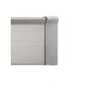 """Brushed Nickel End Cap for 3/4"""" Square Eco-Deco Track~Each"""