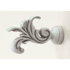 Kirsch Buckingham Leaf Dance Finial ~ Pair