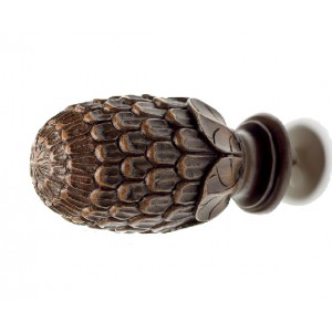 Kirsch Buckingham Pine Cone Finial ~ Pair