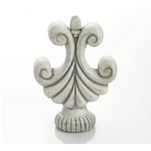 Kirsch Buckingham Swirl Finial ~ Pair