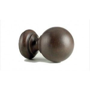 Kirsch Buckingham Wood Ball Finial ~ Pair