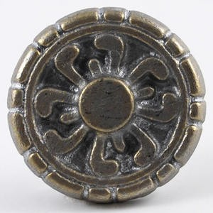 "Floral Metal Rosette~2"" Diameter~Each"