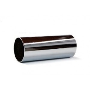 "Polished Chrome Curtain Rod~1 1/2"" Diameter (by the foot)"