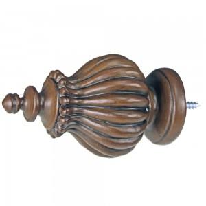 """Classique Curtain Rod Finial for 2"""" Wooden Drapery Rods~Each"""
