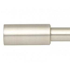 """Cole Curtain Rod Finial for 1"""" Metal Drapery Rod ~ Pair"""