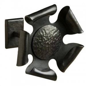 "Iron Rosette with 4"" Post~Each"