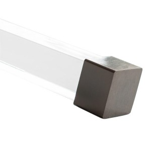 "Black Onyx End Cap for 1 1/2"" Square Acrylic Curtain Rod~Each"