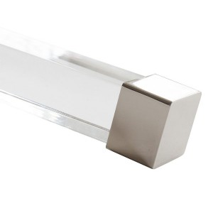 "Polished Nickel End Cap for 1 1/2"" Square Acrylic Rod"