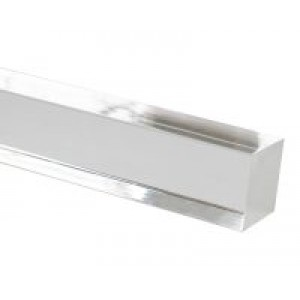 "4' Square Acrylic Curtain Rod~1 1/2"" Square"