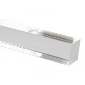 "4' Square Acrylic Curtain Rod~1 1/2"" Square"