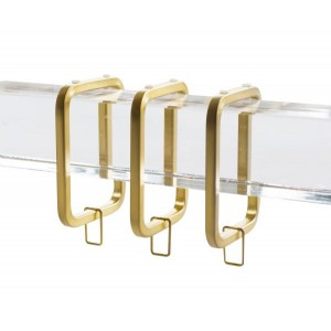"Satin Gold Square Ring for 1 1/2"" Square Acrylic Rod~Each"