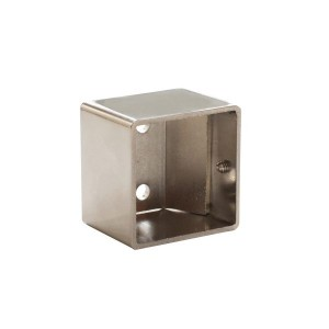 "Polished Nickel Inside Mount Bracket for 1 1/2"" Square Acrylic Rod~Each"