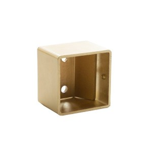 "Satin Gold Inside Mount Bracket for 1 1/2"" Square Acrylic Rod~Each"