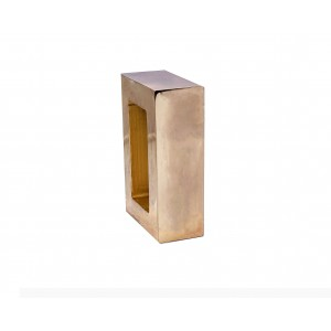 "Polished Brass Rectangle End Cap for 2"" x 1"" Rod"