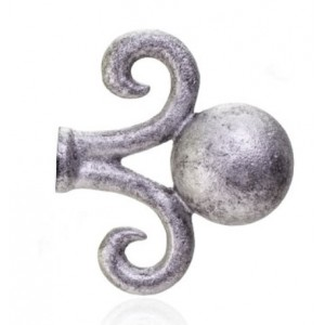 """Dew Drop Finial for 5/8"""" 7/8"""" or 1 1/4"""" Curtain Rods~Each"""