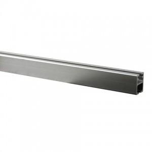 "8' Secondary Metal Curtain Rod Rail~9/16"" H x 7/16"" Deep"