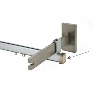 Secondary Rail Metal Curtain Rod Endcap~Each