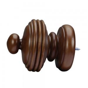 "Domus Loft Finial Walnut 2""~Each"