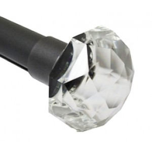 """Crystal Finial for 1 1/4"""" Curtain Rods~Each"""