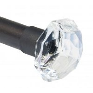 "Crystal Finial for 1 1/4"" Curtain Rods~Each"