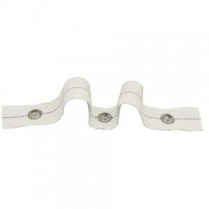 Ripplefold Snap Tape for Traverse Pole & CS Track~White~(by the yard)