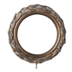 "Leafy Resin Curtain Ring for 3"" Drapery Rod~Each"
