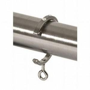 """Steel Bypass Traverse Curtain Rod C-Ring for 1 1/8"""" Drapery Rods~Each"""