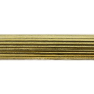 """4' Reeded Water Gilded Pole for 2"""" Drapery Curtain Rod~Each"""