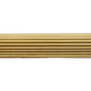 """8' Reeded Water Gilded Pole for 2"""" Curtain Rod~Each"""