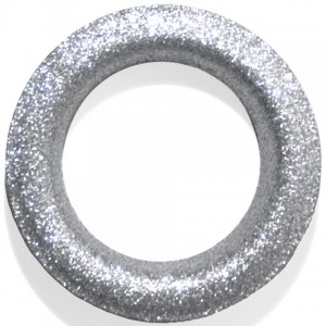 Glitter Silver #12 Grommet - Designer Finish~Each