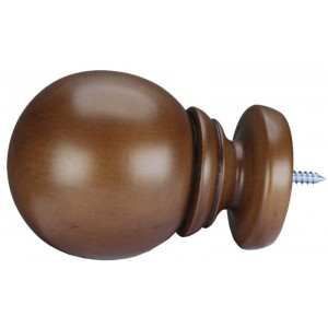 "Belle of the Ball Finial Fruitwood 2""~Each"